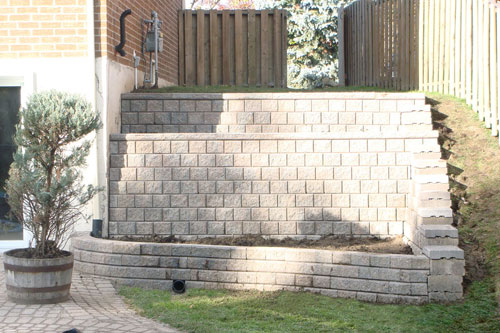 Retaining Wall (after - front)
